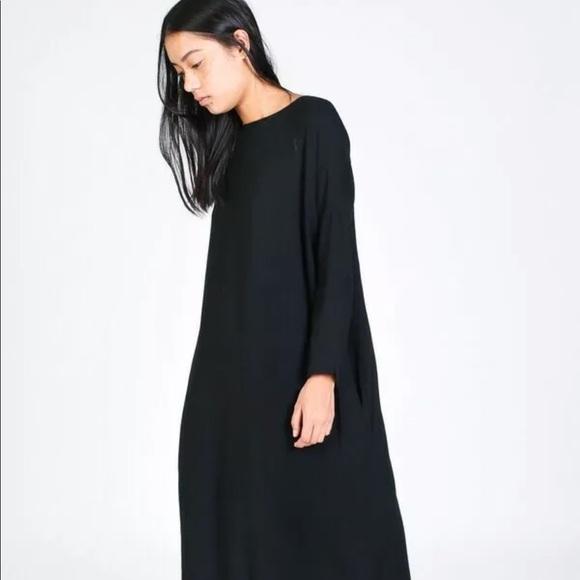 3b4031ec5a black crane Dresses   Skirts - Black Crane Pleated Teal Green Cocoon Wool  Dress